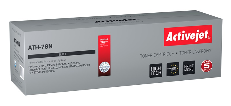 Toner ActiveJet ATH-78N, černý HP CE278A - HP 78A, 2500 stran