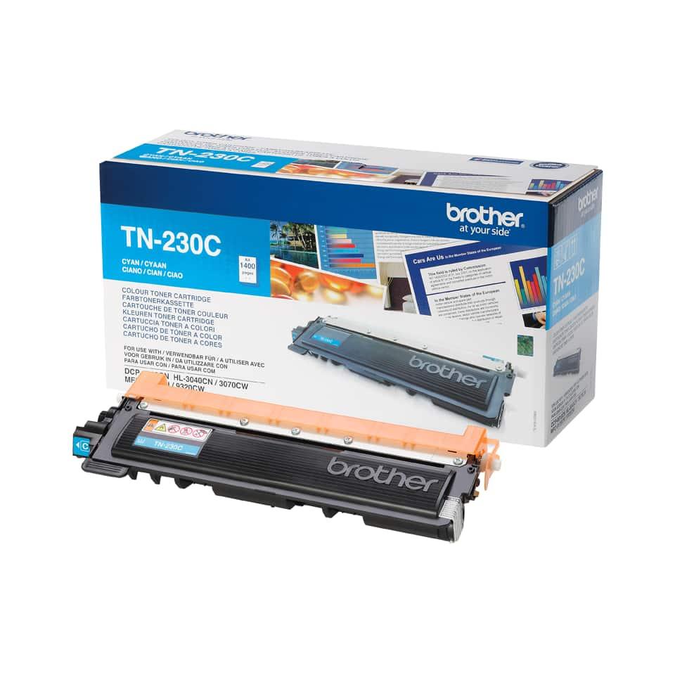Brother toner TN-230C, cyan-modrý, výtěžnost až 1400 stran, vhodný pro tiskárny Brother HL-3040CN, HL-3070CW, DCP-9010CN, MFC-9120CN, MFC-9320CW.
