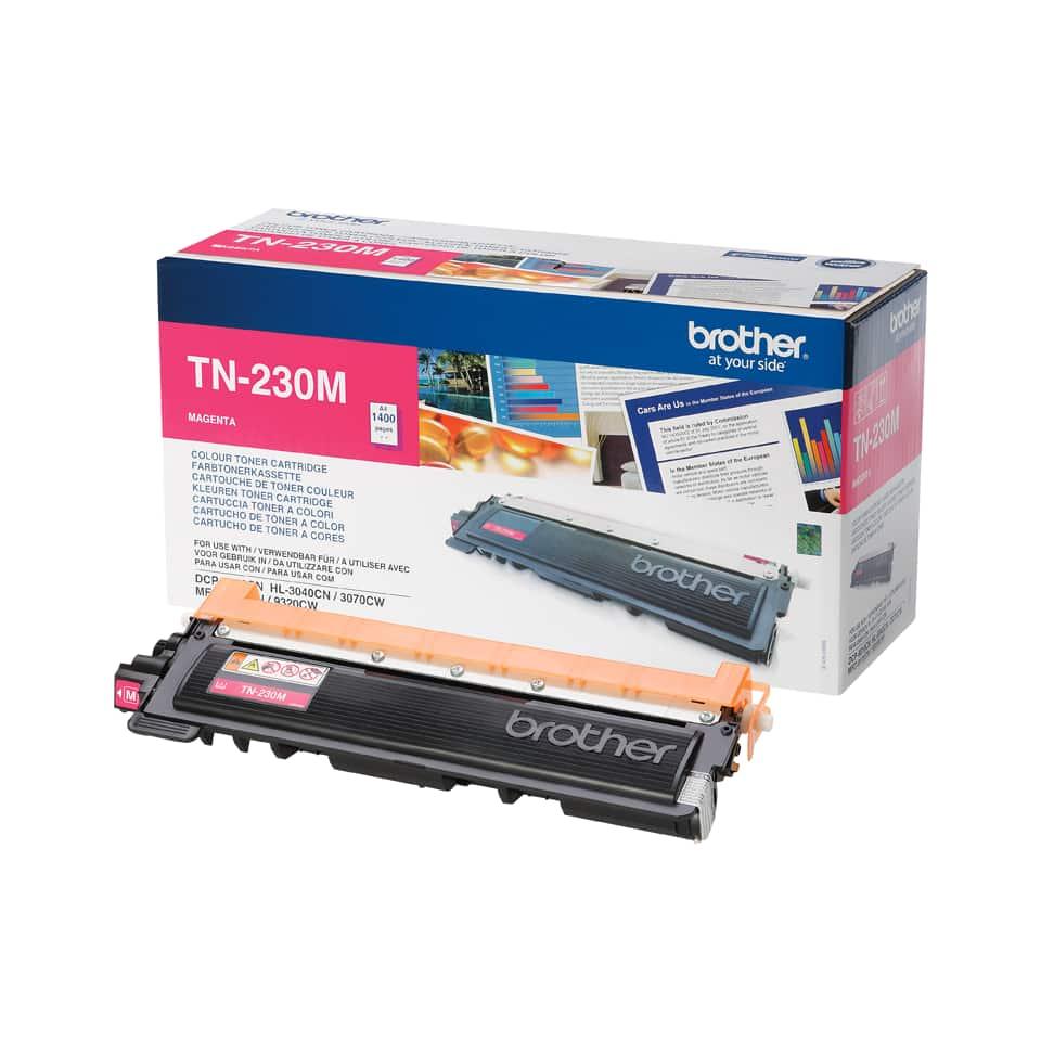 Brother toner TN-230M, originální, magenta-červený toner,