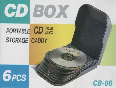 CB06 / Přenosný CD BOX na 6 ks CD, plastový