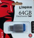 64GB Kingston DataTraveler 50 (DT50/64GB), USB 3.0, kovový
