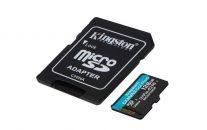 KINGSTON 128GB microSDXC karta CANVAS GO PLUS, Class U3 UHS-I V30 (čtení/zápis 170/100MB/s) + adaptér (SDCG3/128GB)