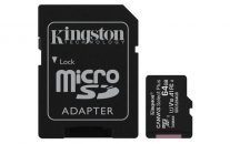KINGSTON 64GB micro SDXC karta CANVAS SELECT PLUS CL 10 UHS-I + ADAPTER (SDCS2/64GB) 100R/10W