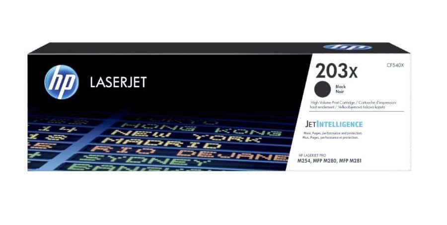 HP CF540X, černý toner HP 203X pro tiskárny HP LaserJet
