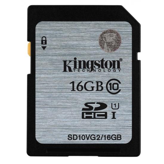 16GB SDHC KINGSTON Class 10 UHS-I (čtení až 45MB/s) - SD10VG2/16GB