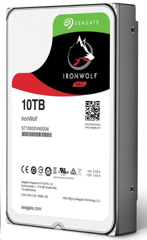 HDD Seagate IronWolf ST10000VN0004, 10TB, SATA3, 7200RMP, 256MB cache