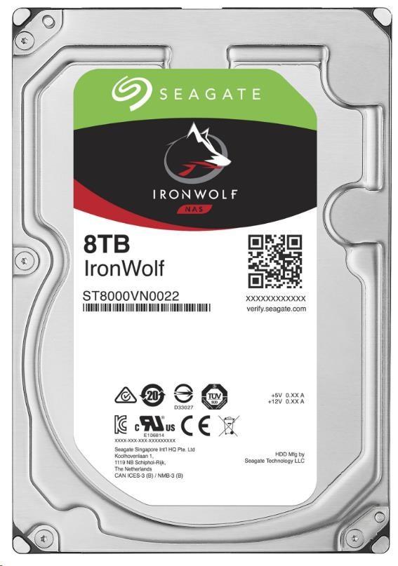 HDD Seagate IronWolf ST8000VN004, 8TB, SATA3, 7200RMP, 256MB cache