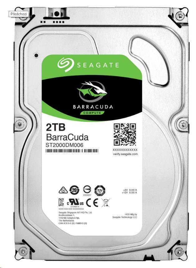 HDD Seagate ST2000DM008, 2TB HDD, SATA/600, 256MB cache, 7200RPM
