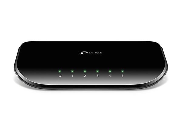 TP-Link TL-SG1005D Switch 5xTP 10 / 100 / 1000Mbps, plastový