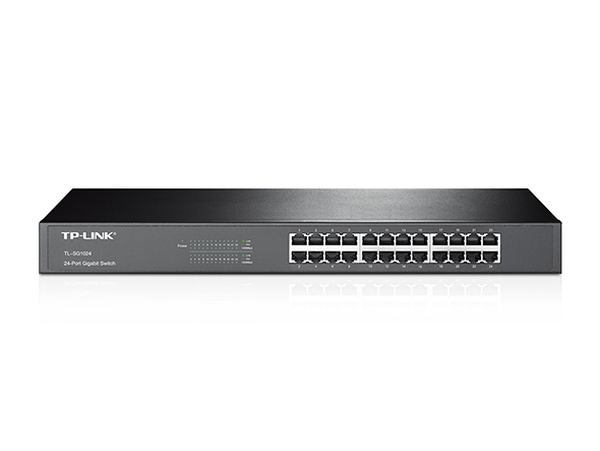 "TP-Link TL-SG1024, 24x10/100/1000 RJ45 GB Switch, 19"" Rack"