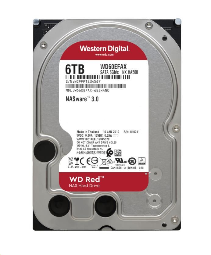 WD60EFAX WD RED NAS Edition, 6TB, SATA/600
