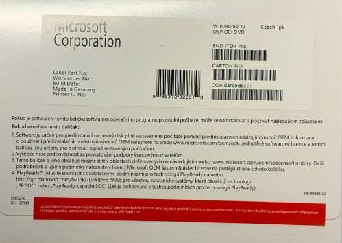 MS OEM Windows 10 PRO x64 CZ 1pk